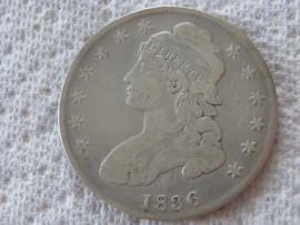 1836 CAPPED BUST HALF DOLLAR Nice Coin Higher Grade Very Fine Coin